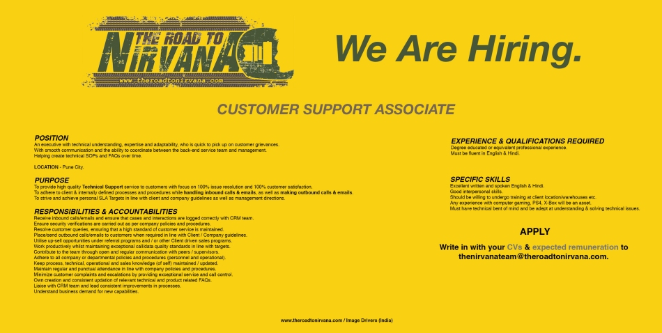 Customer Support Associate