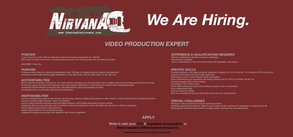 VIDEO PRODUCTION EXPERT